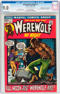 Bronze Age (1970-1979):Horror, Werewolf by Night #1 Don/Maggie Thompson Collection pedigree (Marvel, 1972) CGC VF/NM 9.0 Off-white to white pages....