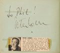 Movie/TV Memorabilia:Autographs and Signed Items, A Margaret Hamilton, Peter Lorre, George Reeves, and Others Signed Autograph Book, 1950s....