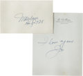 Autographs:Others, Circa 1954 Joe DiMaggio Handwritten Signed Love Note to MarilynMonroe....