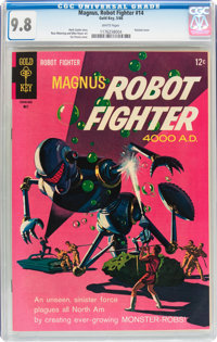 Magnus Robot Fighter #14 (Gold Key, 1966) CGC NM/MT 9.8 White pages