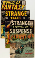 Golden Age (1938-1955):Horror, Atlas/Marvel Silver Age Horror Comics Group (Atlas/Marvel, 1956-62)Condition: Average GD/VG.... (Total: 3 Comic Books)