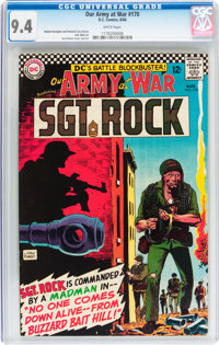 Our Army at War #170 (DC, 1966) CGC NM 9.4 White pages