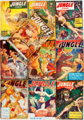 Books:Pulps, [Pulps]. Ten Issues of Jungle Stories. 1950-1954. Original printed wrappers. Edgeworn, with some loss to spine e... (Total: 10 Items)