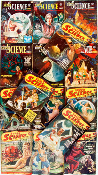 [Pulps]. Ten Issues of Super Science Stories. 1949-1951. Original printed wrappers