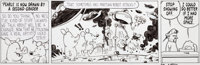 Bill Watterson and Stephan Pastis Pearls Before Swine Daily Comic Strip Original Art dated 6-5-2014 (Universal Ucl