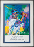 Baseball Collectibles:Photos, LeRoy Neiman Signed Jackie Robinson 50th Anniversary Lithograph....
