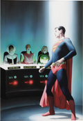 Original Comic Art:Covers, Alex Ross - Overstreet Comic Book Price Guide #29 Cover Featuring Superboy and the Legion of Super-Heroes Original Art (1999)....