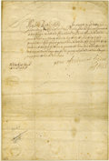 Autographs:Non-American, King James II of England Letter Signed...