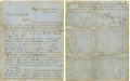 "Autographs:Military Figures, Robert E. Lee War Date Autograph Letter Signed, ""R ELee"", two pages, 7.75"" x 10"", Coosawhatchie, SouthCarolina..."