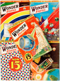 Books:Pulps, [Pulps]. Five Issues of Wonder Stories. 1932. Original printed wrappers. Edges rubbed. Some loss and tape reinforcem... (Total: 5 Items)