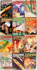 Books:Pulps, [Pulps]. Twelve Issues of Astounding Stories. 1932-1934.Original printed wrappers. Edges rubbed, with some biopreda...(Total: 12 Items)