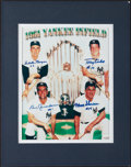 Baseball Collectibles:Photos, 1986 Boston Red Sox Team Signed Photograph and 1961 Yankees InfieldMulti Signed Photograph....