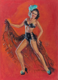 ZOE MOZERT (American, 1904-1993) The Dancer Pastel on board 32.5 x 24 in. (sight) Signed cente