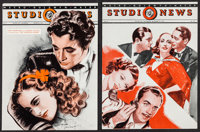 "MGM Studio News (MGM, August 1936-January 1938). Magazines (5) (Multiple Pages, 10.25"" X 13.75""). Miscellaneou..."