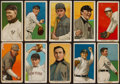 Baseball Cards:Lots, 1909-11 T206 White Border Collection (10) With HoFer. ...