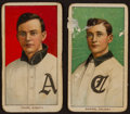 Baseball Cards:Lots, 1909-11 T206 Hindu Cigarettes - Brown Southern leaguers Pair (2)! ...
