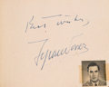 Movie/TV Memorabilia:Autographs and Signed Items, A Dorothy Dandridge, Tyrone Power, Edward G. Robinson, John Wayne,and Others Signed Autograph Book, 1953....