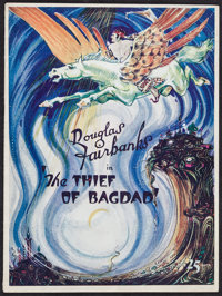 """The Thief of Bagdad (United Artists, 1924). Program (Multiple Pages, 9"""" X 12""""). Adventure"""