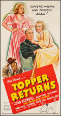 "Movie Posters:Comedy, Topper Returns (United Artists, 1941). Three Sheet (41"" X 79""). Comedy.. ..."