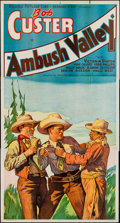 """Movie Posters:Western, Ambush Valley (Reliable, 1936). Three Sheet (41"""" X 77""""). Western.. ..."""