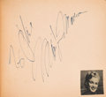 Movie/TV Memorabilia:Autographs and Signed Items, A Marilyn Monroe, Joe DiMaggio, and Others Signed Autograph Book, 1950s....