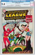 Silver Age (1956-1969):Superhero, Justice League of America #9 Don/Maggie Thompson Collection pedigree (DC, 1962) CGC NM 9.4 Off-white to white pages....