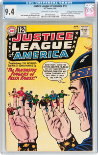 Justice League of America #10 Don/Maggie Thompson Collection pedigree (DC, 1962) CGC NM 9.4 Off-white to white pages