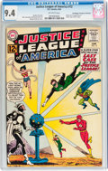 Silver Age (1956-1969):Superhero, Justice League of America #12 Don/Maggie Thompson Collectionpedigree (DC, 1962) CGC NM 9.4 Off-white pages....