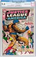 Silver Age (1956-1969):Superhero, Justice League of America #20 Don/Maggie Thompson Collection pedigree (DC, 1963) CGC NM 9.4 Off-white to white pages....