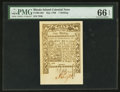Colonial Notes:Rhode Island, Rhode Island May 1786 1s PMG Gem Uncirculated 66 EPQ.. ...