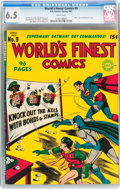 Golden Age (1938-1955):Superhero, World's Finest Comics #9 (DC, 1943) CGC FN+ 6.5 White pages....