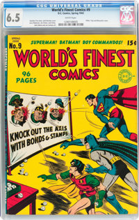 World's Finest Comics #9 (DC, 1943) CGC FN+ 6.5 White pages