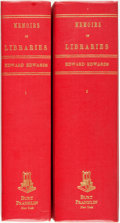 Books:Reference & Bibliography, [Bibliographies]. Edward Edwards. Memoirs of Libraries. NewYork: Burt Franklin, [n.d.]. Reprint edition. Complete i... (Total:2 Items)