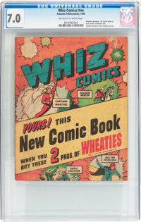Whiz Comics #nn Wheaties giveaway (Fawcett Publications, 1946) CGC FN/VF 7.0 Off-white to white pages