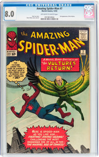 The Amazing Spider-Man #7 (Marvel, 1963) CGC VF 8.0 Off-white to white pages