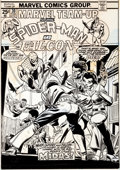 Original Comic Art:Covers, Gil Kane and Frank Giacoia Marvel Team-Up #30 Spider-Man andthe Falcon Cover Original Art (Marvel, 1975)....