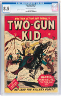 Golden Age (1938-1955):Western, Two-Gun Kid #1 (Marvel, 1948) CGC VF+ 8.5 Off-white to whitepages....