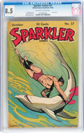 Golden Age (1938-1955):Miscellaneous, Sparkler Comics #37 (United Features Syndicate, 1944) CGC VF+ 8.5 Off-white to white pages....
