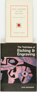 Books:Books about Books, [Books about Books]. Group of two books on printing and engraving. Various publishers and dates. Later editions. Octavos. Pu... (Total: 2 Items)