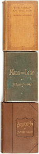 Books:Literature Pre-1900, H. Rider Haggard. Group of Three First Editions. Various publishersand dates. Twelvemos. Publisher's original bindings. Cor... (Total:3 Items)