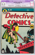 Golden Age (1938-1955):Superhero, Detective Comics #40 (DC, 1940) CGC Apparent VG 4.0 Moderate (A) Off-white to white pages....