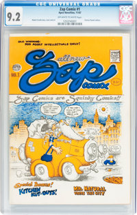 Zap Comix #1 First Printing - Plymell Edition (Apex Novelties, 1967) CGC NM- 9.2 Off-white to white pages