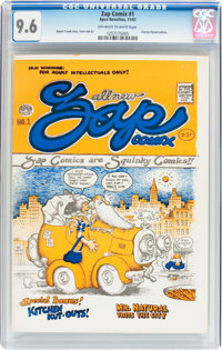 Zap Comix #1 First Printing - Plymell Edition (Apex Novelties, 1967) CGC NM+ 9.6 Off-white to white pages
