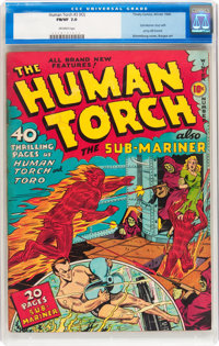 The Human Torch #3 (#2) (Timely, 1940) CGC FN/VF 7.0 Off-white pages
