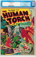 Golden Age (1938-1955):Superhero, The Human Torch #4 (#3) (Timely, 1941) CGC VF 8.0 Cream to off-white pages....