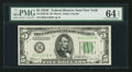 Fr. 1959-B* $5 1934C Federal Reserve Note. PMG Choice Uncirculated 64 EPQ
