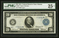 Large Size:Federal Reserve Notes, Fr. 984* $20 1914 Federal Reserve Note PMG Very Fine 25 Net.. ...