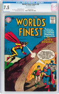 Silver Age (1956-1969):Superhero, World's Finest Comics #90 (DC, 1957) CGC VF- 7.5 Off-white to white pages....