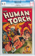 Golden Age (1938-1955):Superhero, The Human Torch #24 (Timely, 1946) CGC NM- 9.2 Off-white pages....