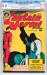 Captain Marvel Adventures #80 Mile High pedigree (Fawcett Publications, 1948) CGC NM 9.4 Off-white to white pages